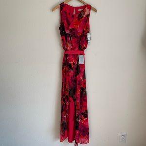 NWT Eliza J watercolor floral sleeveless dress